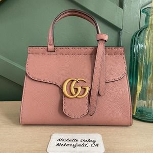 Gucci  Marmont Top Handle Antique Rose Nude Small